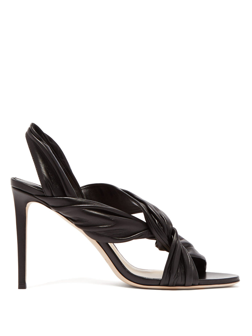 Lalia 85 twisted leather slingback sandals