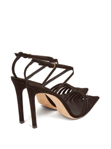 Thu 100 suede cage heels