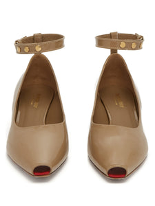 Dill patent-leather kitten heels
