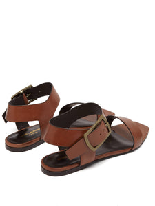 Oak leather buckle sandals