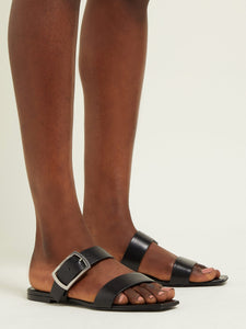 Oak buckled leather sandals