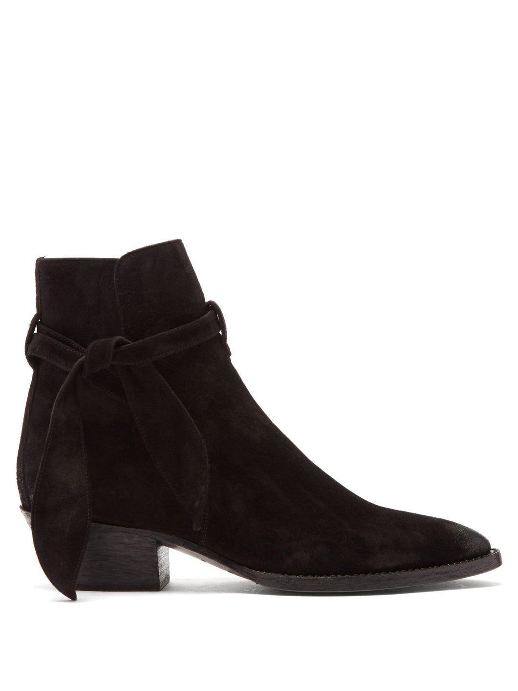 West tie-side suede ankle boots