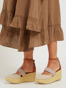 Sasha canvas espadrille wedges