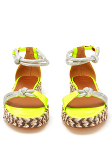 Simona leather & jute espadrille sandals