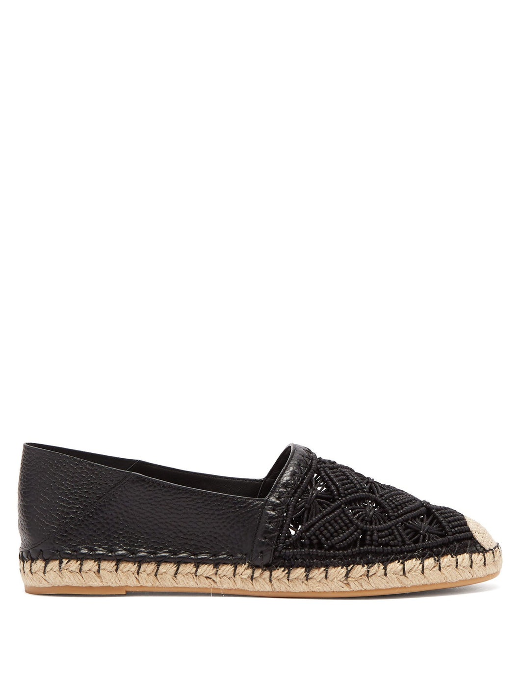 Marrakech macramé and leather espadrilles