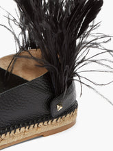 Load image into Gallery viewer, Feather-strap leather espadrilles