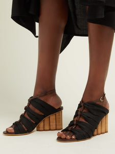 Solki column-heel canvas sandals