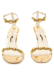 Aaliyah crystal-embellished leather sandals