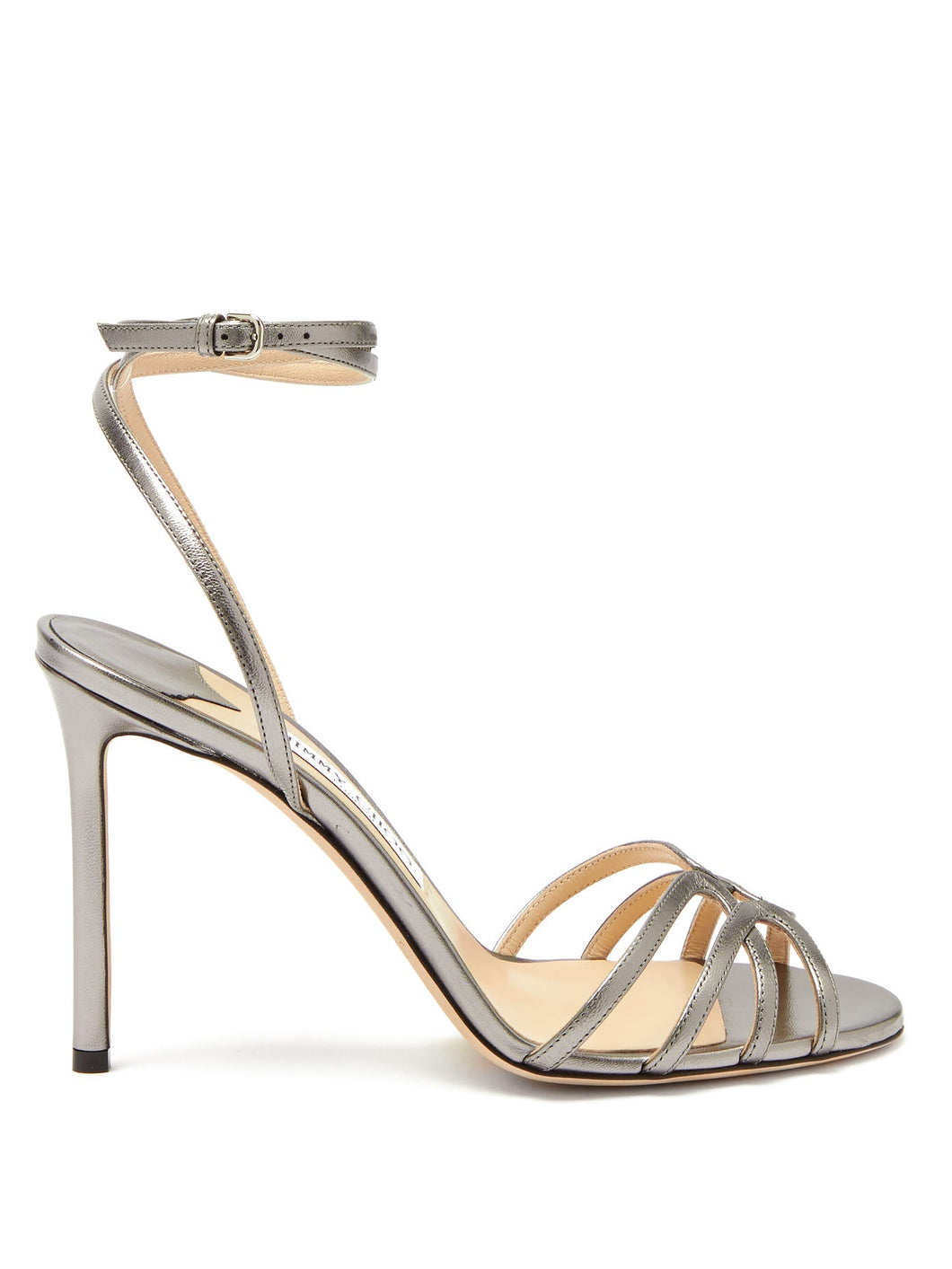Mimi 100 metallic-leather sandals