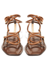 Load image into Gallery viewer, Aziza leather lace-up sandals