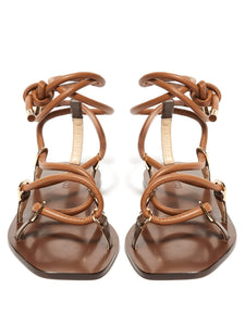 Aziza leather lace-up sandals