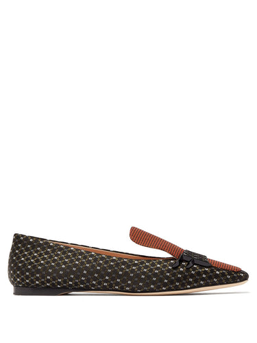 FFreedom square-toe jacquard loafers