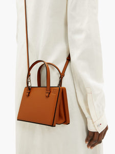 Postal small leather bag
