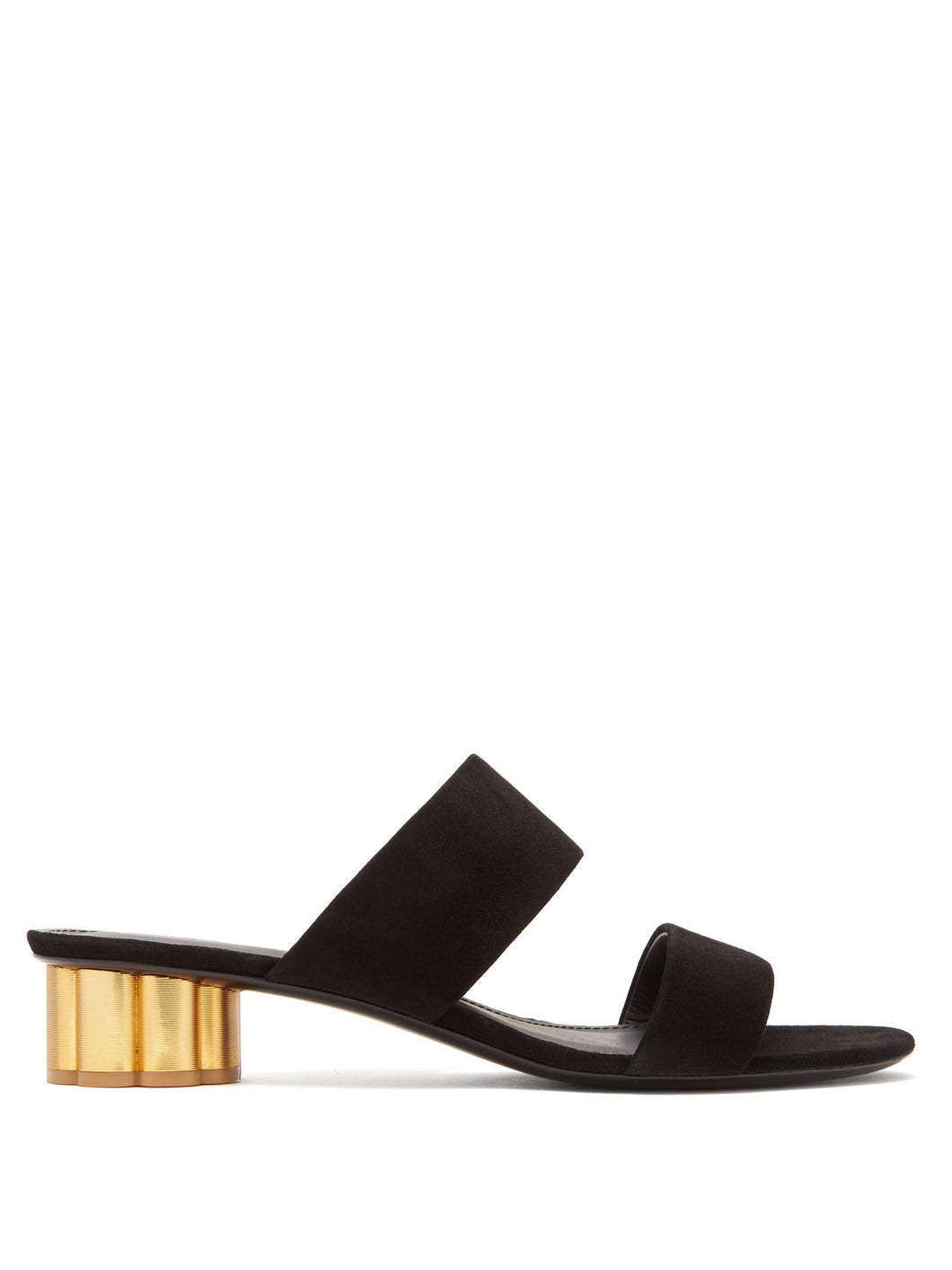 Belluno column-heel suede sandals