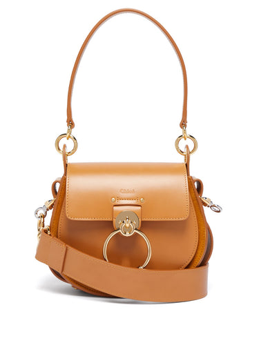 Tess small leather and suede cross-body bag