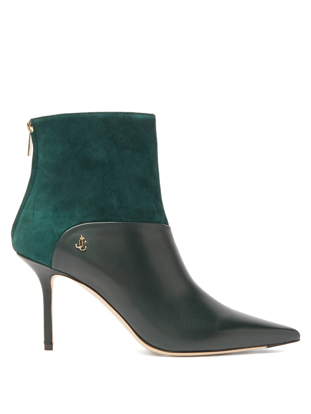 Beyla 85 leather and suede ankle boots