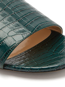 Joni crocodile-effect leather slides