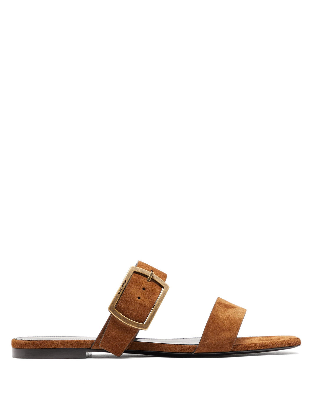 Oak buckled suede sandals