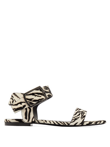 Oak tiger-print calf-hair buckle sandals