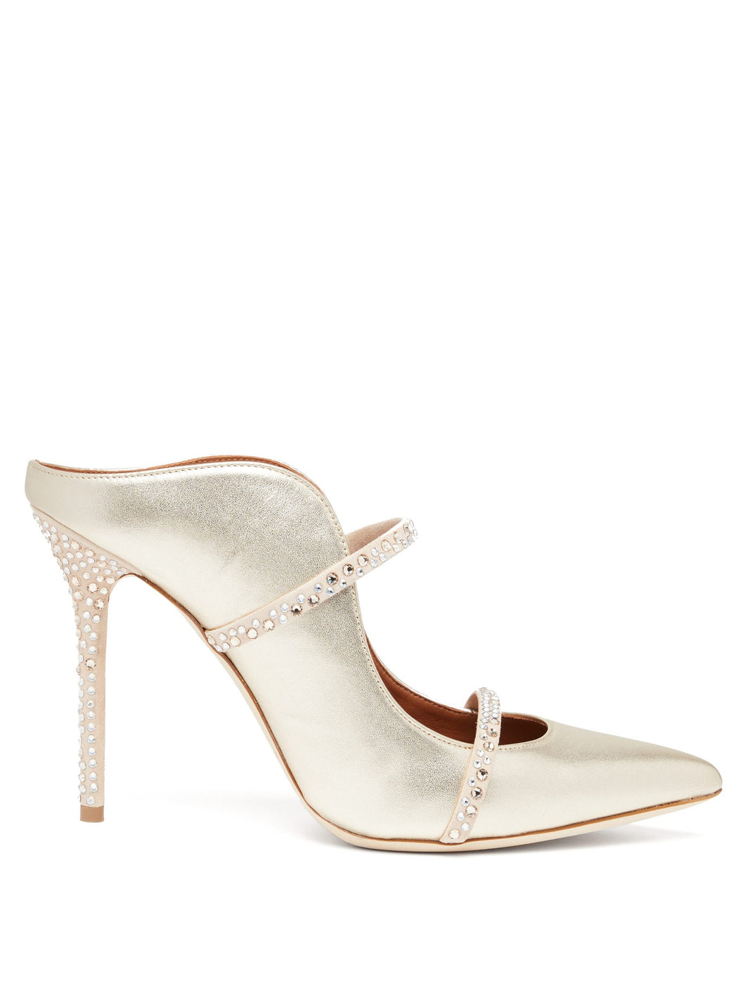 Maureen crystal-embellished leather mules