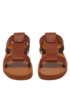 Escape Rockstud leather slides