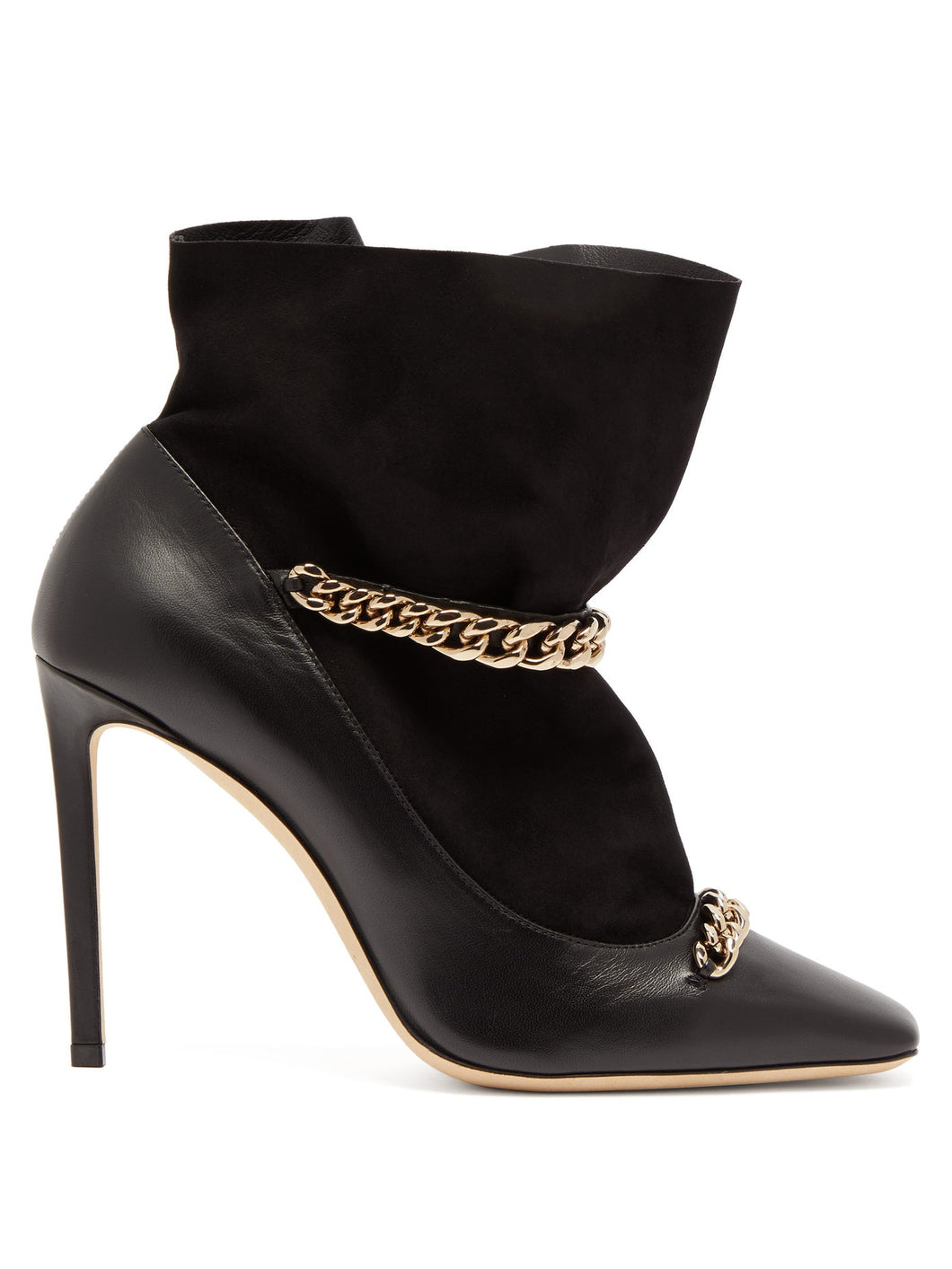 Maruxa 100 chain-strap leather ankle boots