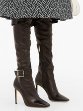 Load image into Gallery viewer, Takara 100 buckled leather over-the-knee boots