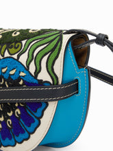 Load image into Gallery viewer, Gate floral-embroidered leather cross-body bag