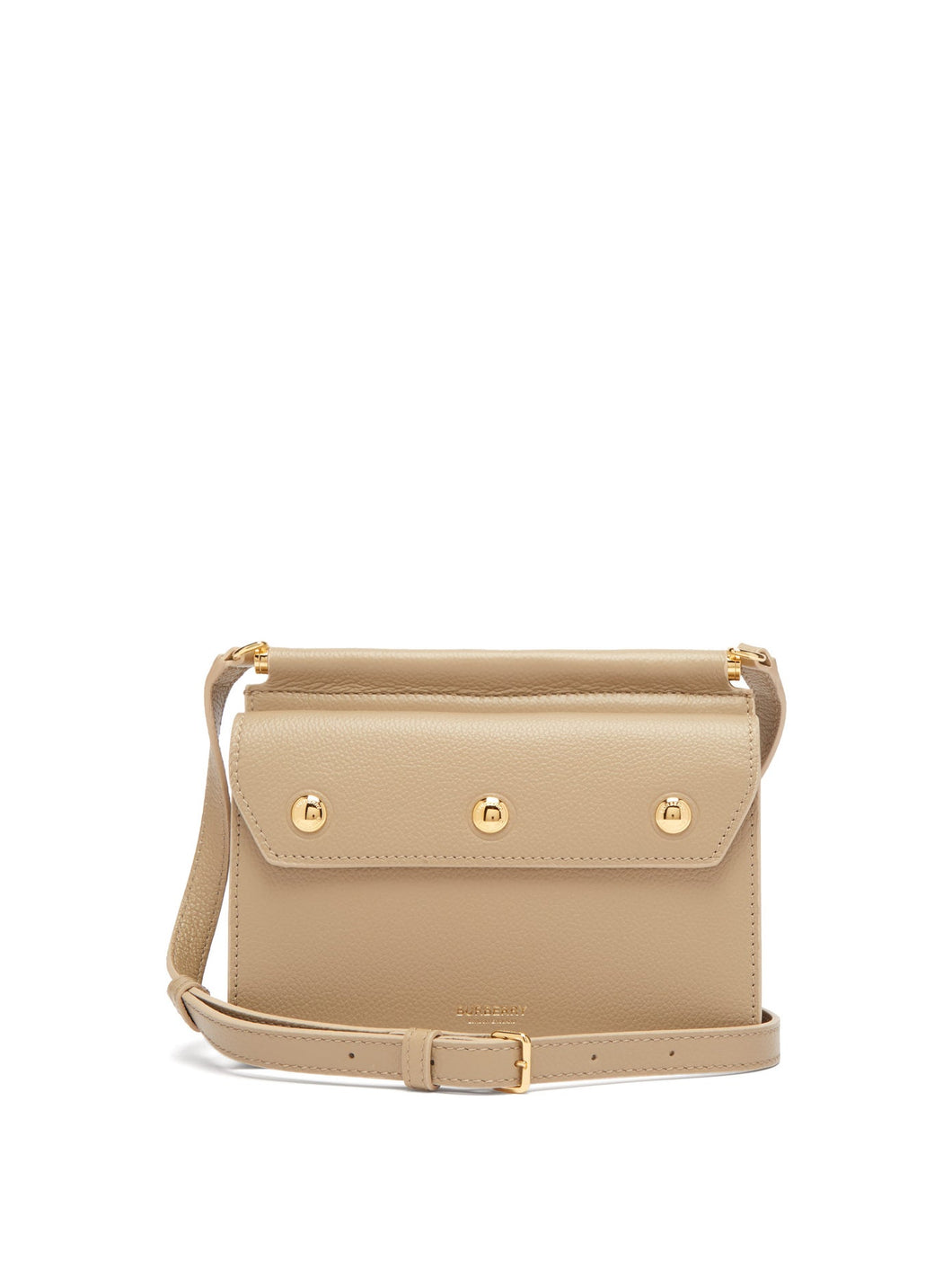 Title mini grained-leather cross-body bag