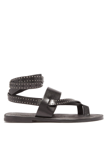 Culver studded wraparound leather sandals