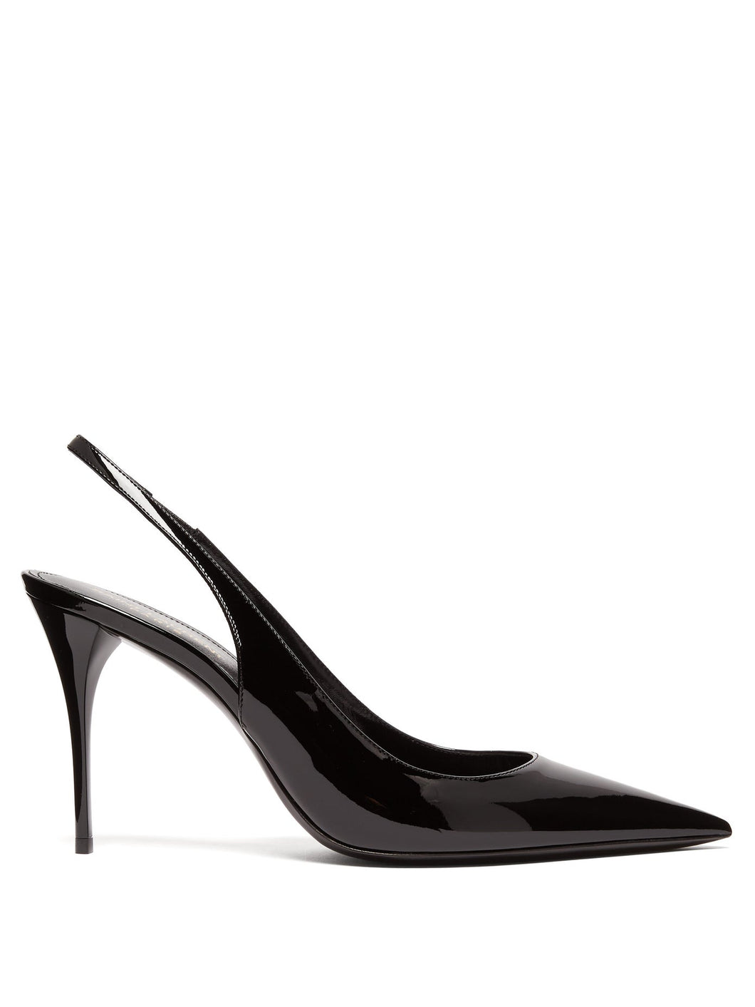Lexi patent-leather slingback pumps