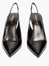 Load image into Gallery viewer, Lexi patent-leather slingback pumps