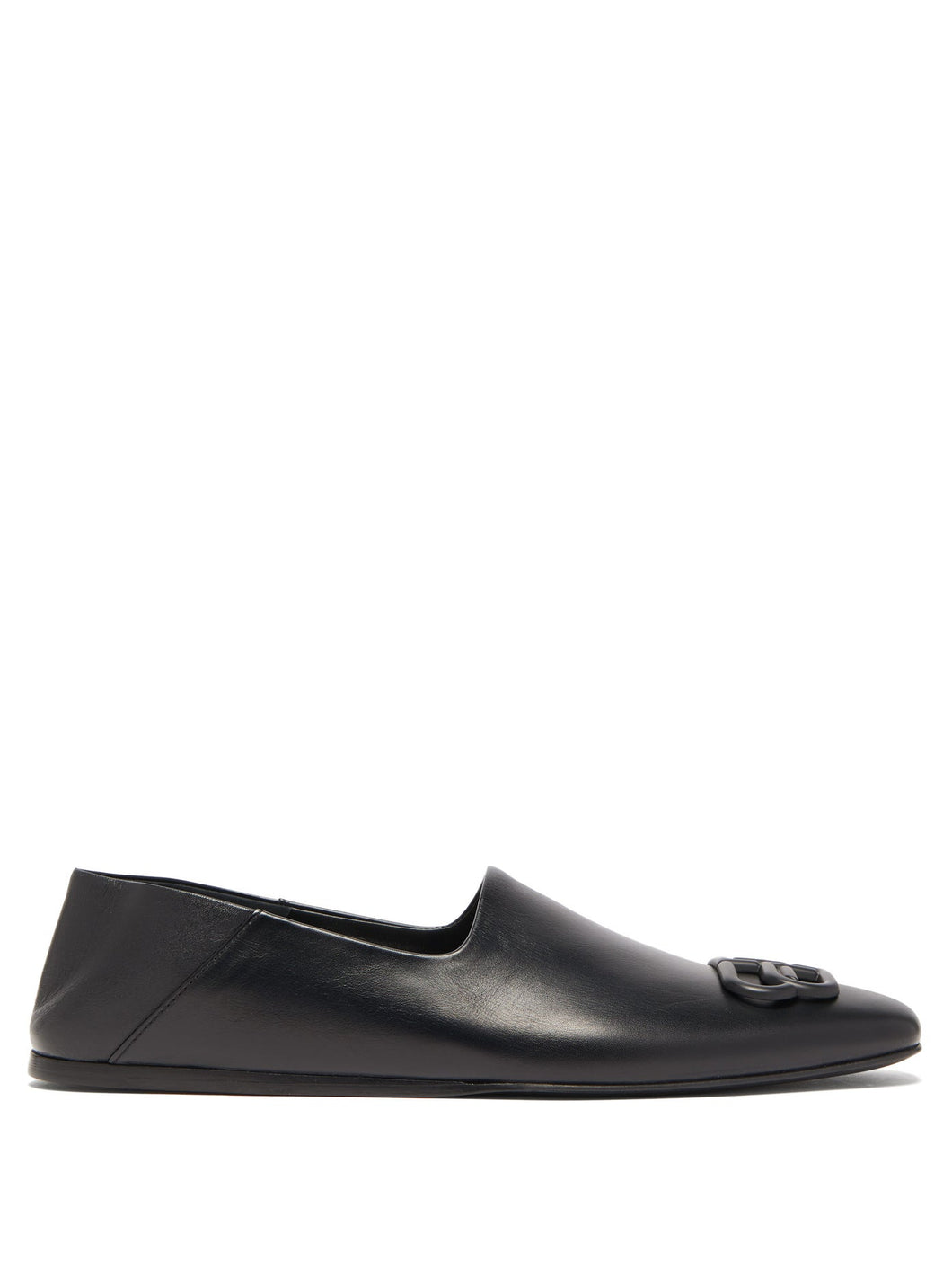 Cosy BB-logo collapsible-heel leather loafers