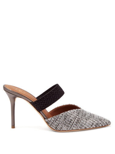 Maisie 85 point-toe woven mules