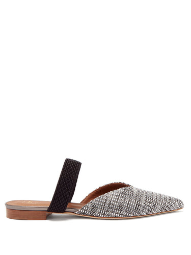 Maisie point-toe woven mules