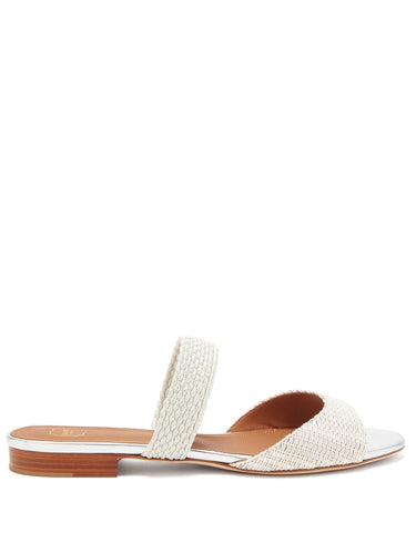 Milena woven-Lurex backless sandals