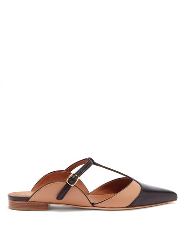 Imogen T-bar leather mules