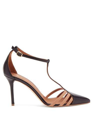 Ila constrat-strap nappa-leather T-bar pumps