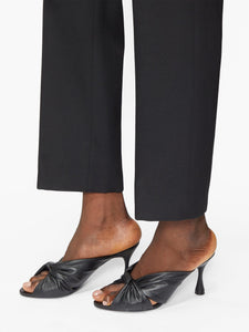 Drapy knot-front leather mules