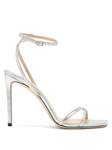 Metz 100 ankle-strap metallic leather sandals