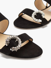 Load image into Gallery viewer, Saphera crystal-embellished suede sandals