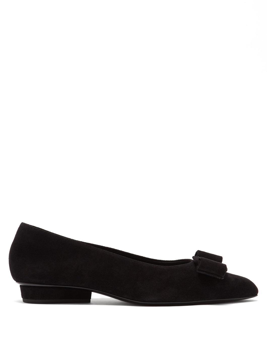 Viva suede point-toe flats