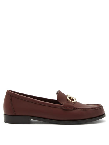 Gancio Bit leather loafers