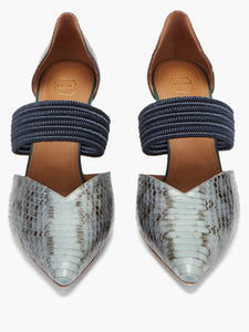 Maisie 85 point-toe elaphe mules