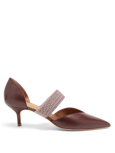 Maisie point-toe leather pumps