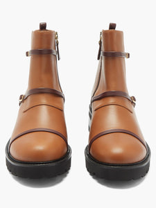 Brodie trek-sole leather boots