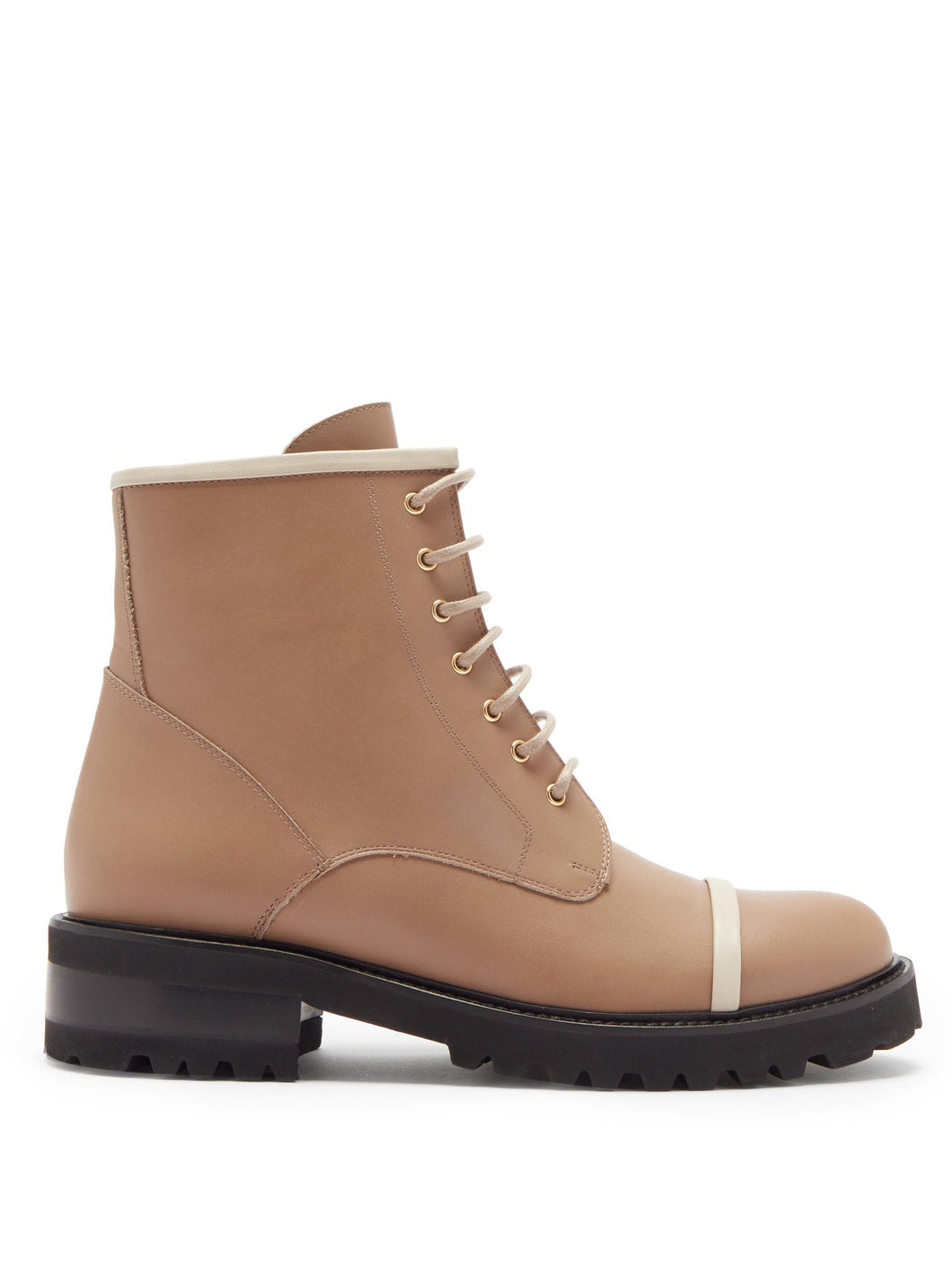 Bryce leather combat boots