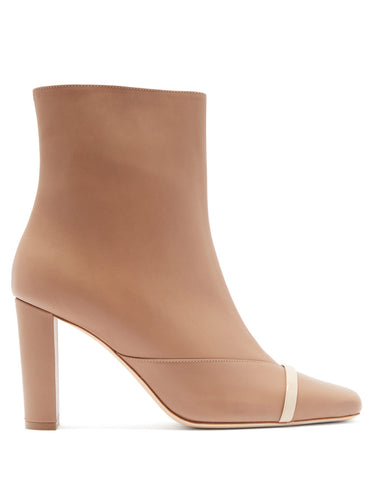 Lori square-toe leather ankle boots
