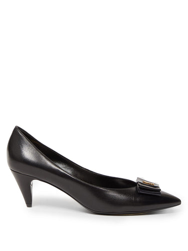 Anaïs YSL-bow leather pumps