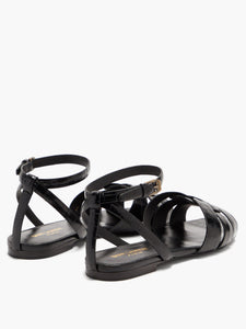 Tribute crocodile-effect leather sandals